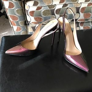 BCBGMaxazria Burgundy Slingback Heels